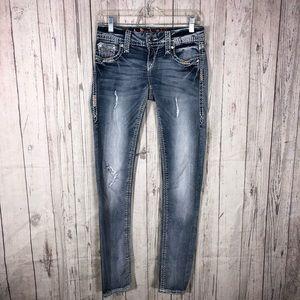 Rock Revival Jacklyn Skinny Distressed Jeans
